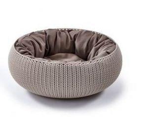 Лежак для животных с подушкой «Вязаный комфорт», Д 52 x 20,2 см, дымчато-бежевый