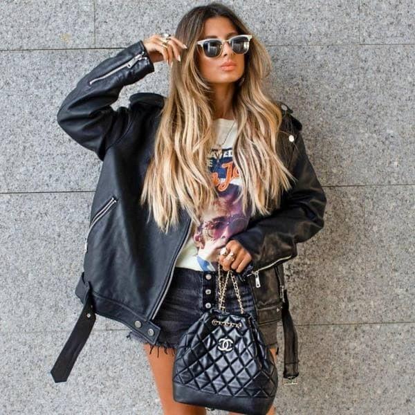 Женские кожаные куртки для самых разных образов